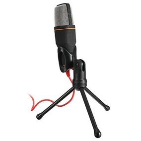 Microfone P2 Com Fio Condensador Sf-666 Estudio Pc Cabo Xlr