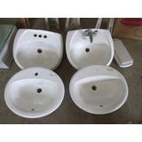 Lavamanos Blanco Baño Blanco Empotrar Y Pedestal Ceramica