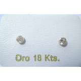 Zarcillos De Oro 18k Zircón Mini Bebes Abridor