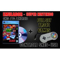 Controle Usb Snes + 11340 Roms Pc / Android ( Xgamelive )