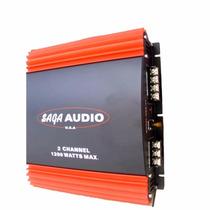 Planta De Sonido Para Carro 1200 Watts Saga Audio 2 Canales
