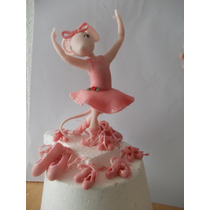Angelina Balerina En Porcelana Fria Para Tu Torta