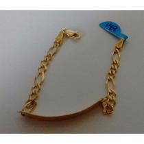 Esclava Con Placa Eslabón Para Niño O Niña Oro Oro 14k