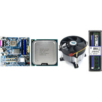 Kit Placa Mãe + Processador Dual Core + Cooler + Memória 2gb