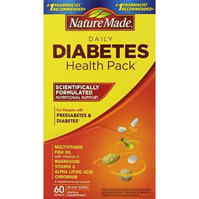 Nature Made Diabetes Health Pack De 60 Paquetes