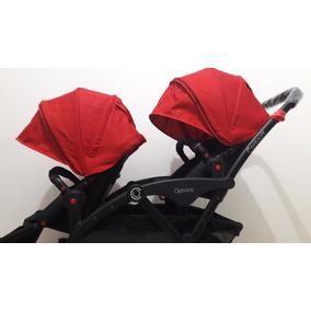 Carrinho De Bebê Para Gêmeos - Contours Options Vermelho