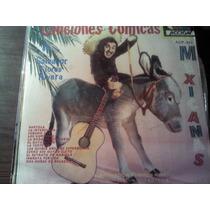 Disco Acetato De Canciones Comicas De Salvador Flores Rivera