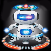 Dança Robot Toy Light Up Led Helicóptero Musical