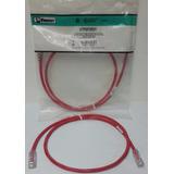 Cable Patch Cord Cat 6- Marca Panduit 1metro Color Rojo