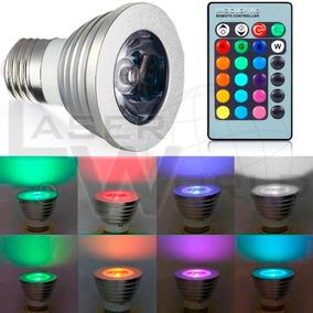 Lámpara Led Rgb Dicroica E27 Control Remoto Cambia De Color