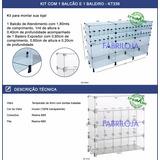 Kit Para Montar Loja Com 1 Balcão E 1 Baleiro De Vidro