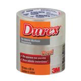 Fita Adesixa Durex Transparente 18 X 50 M   6 Rolos - 3m