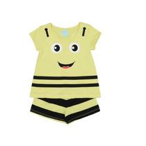 Pijama Abelhinha Que Brilha No Escuro Com Repelente. Amarelo