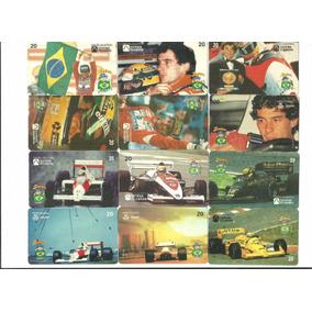 12 Cartao Telefonico Ayrton Senna Do Brasil 25,00+ Frete