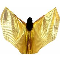Veu Wings Asas De Isis Dourado Com Varetas,dança Do Ventre