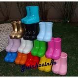 10 Vaso / Vasinho Cerâmica / Galochas / Botinhas/botas Peppa