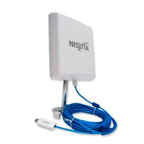 Antena Nisuta Cpe310 Wifi Exterior 12 Dbi 2w Cable 9.5m Pce