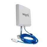 Antena Nisuta 310 Wifi Exterior 12 Dbi 2w Cable 9.5m Pce