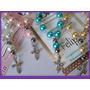 Denarios Souvenirs X10 Hermosos Perlas De Vidrio*cruz Straz