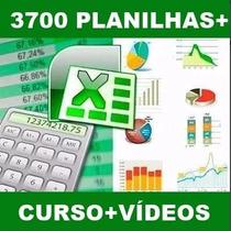 Curso De Excel + 3700 Planilhas Editáveis + Vídeo Aulas