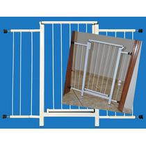 Portão Grade Proteção Porta Criança Pet Cães 104 Cm A 109 Cm