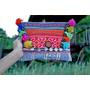 Clutch Boho - Cartera Sobre Importado De Tailandia- Pompones