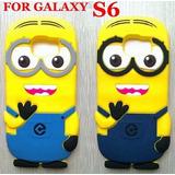 Funda Samsung Galaxy S6 Protector 3d Goma Silicon Minion Cel