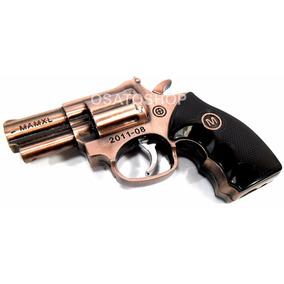 Mini Isqueiro Maçarico Pistola Revolver Chama Forte.