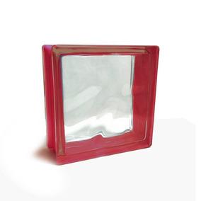 Porcelamika Ladrillo De Vidrio Color Rojo 19x19x8 Cm