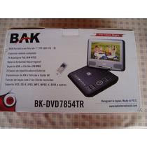 Dvd Portátil Bak 7+tv +suporte Veicular Bak-7854br