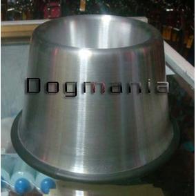 2 Platos Aluminio Para Perro Orejon Uno 750ml Y Uno 1300ml