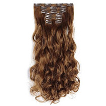 Onedor 20 Curly Full Head Clip In Synthetic Hair Extension
