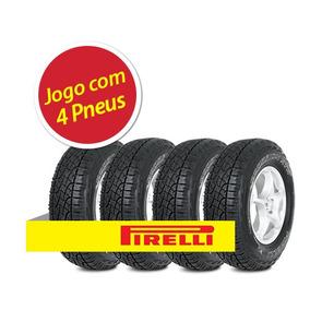 Kit 4 Pneu Pirelli 205/60r15 Scorpion Atr Letra Branca 91h