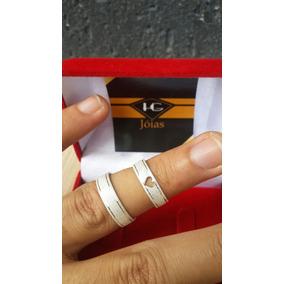Par De Alianças 5mm Prata Coração ( Hg Jóias ) Cod 62