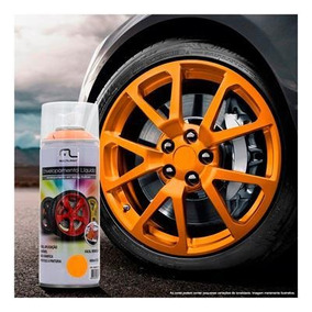 Spray Envelopamento Liquido Laranja Fluorescente 400ml Au426