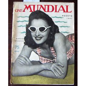Revista Cine Mundial,barbara Stenwyck En Portada