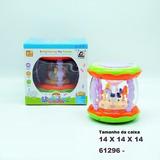 Bateria Tambor Pq Musical Infantil Carrocel Som Luz Hbo Toys