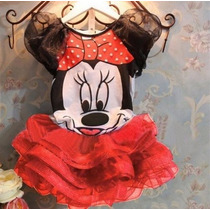Vestido Fantasia Festa Minnie Infantil Tutu Pronta Entrega