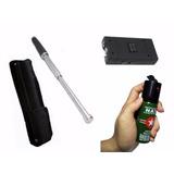 4 Kit Defensa Personal Taser + Tambo + Gas Pimienta + Carnet