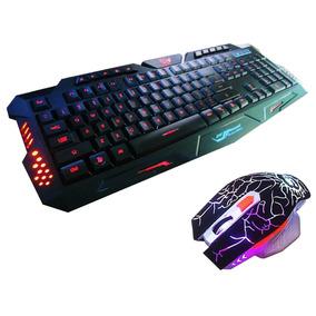 Kit Gamer Jogo Macro Teclado Iluminado + Mouse Neon 3200dpi