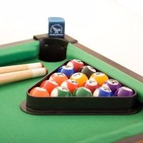 Jogo Bilhar Sinuca Snooker Mini Mesa Madeira Completo 51 Cm