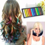 12 Tizas Para Pintar Teñir El Pelo Mechas Color Hair Chalk