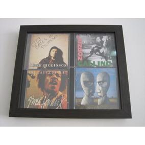 Quadro Porta-cd - 2x2 - Em Madeira Mdf - Ébano