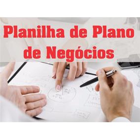 Planilha De Plano De Negócios Em Excel 3.0