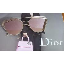 Óculos De Sol Rosê Crisdiorr Love Punch Espelhado Promoção