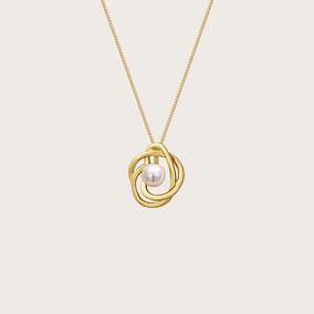 Gargantilha Em Ouro 18k (750) Com Pérola