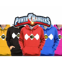 Kit 5 Moletons Blusa De Frio Power Rangers Filme 2017