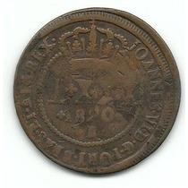 Moeda De Cobre, Brasil, L X X X Réis, 1820 B, Mbc