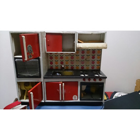 Cozinha De Brinquedo Antiga De Ferro.marca Banesa