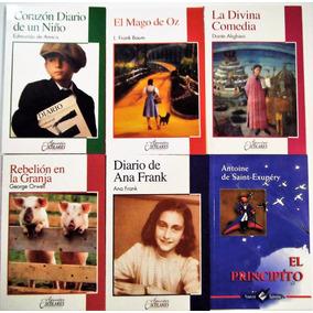 Paquete 6 Libros Niños Principito Mago Oz Rebelion Granja*